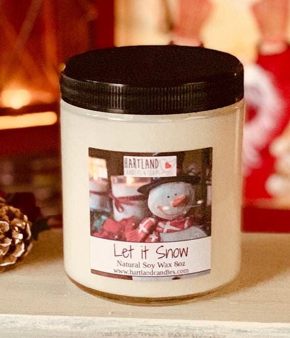 Holiday Soy Candles-Let it Snow