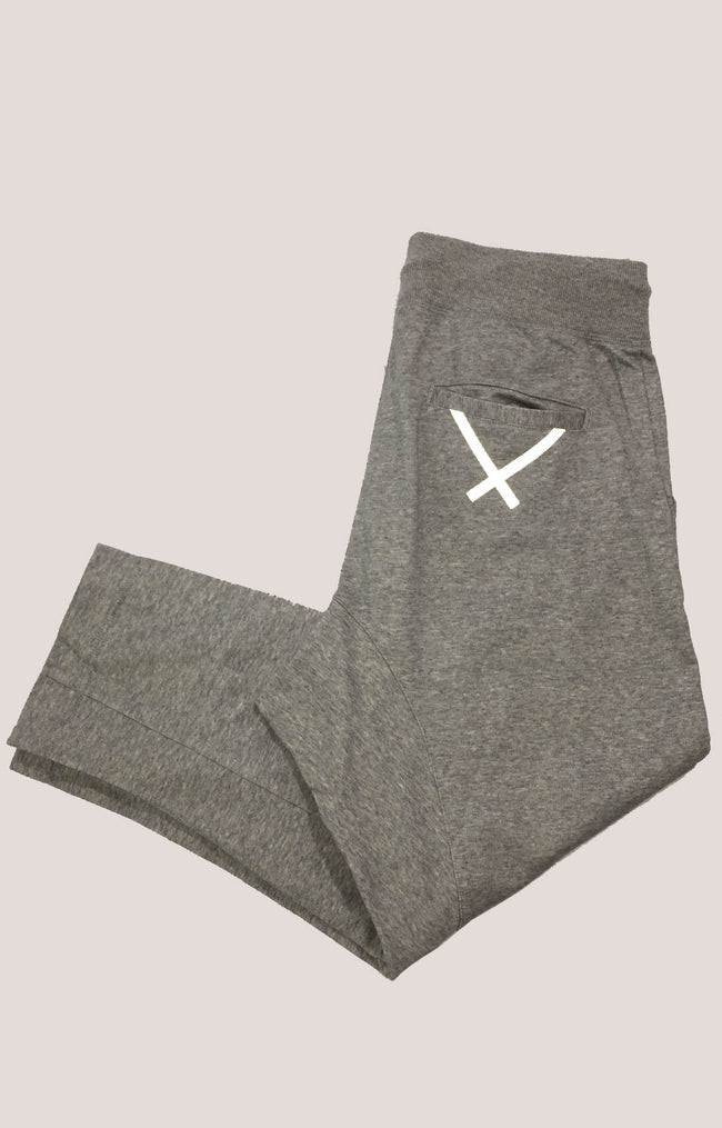 Adidas Cropped Sweats in Gray