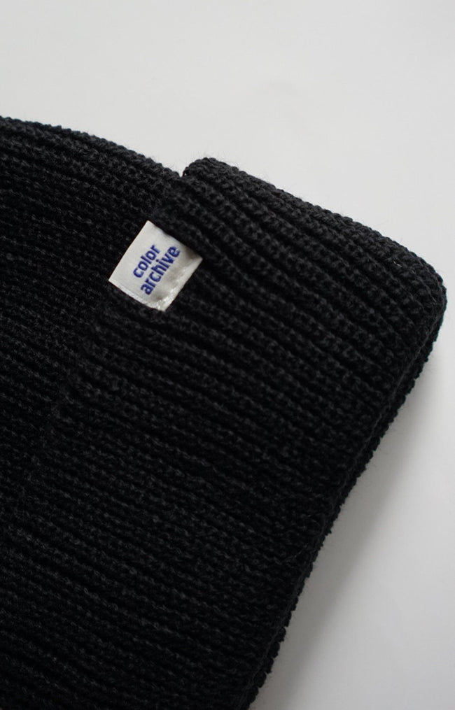Color Archive Beanie in Black