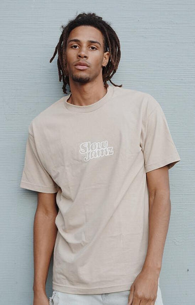 Slow Jamz Essential Tee in Sand