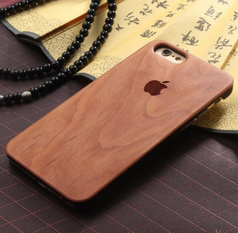 Wood Case iPhone Logo