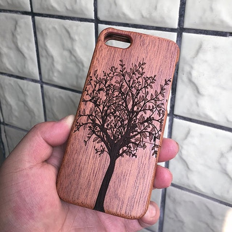 Carved Tree Wood iPhone Case