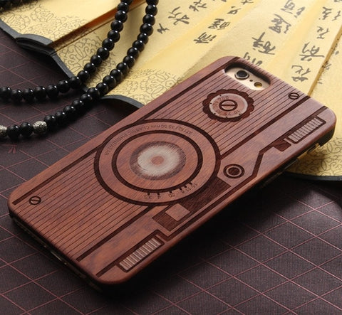 Wood Camera Design iPhone Case