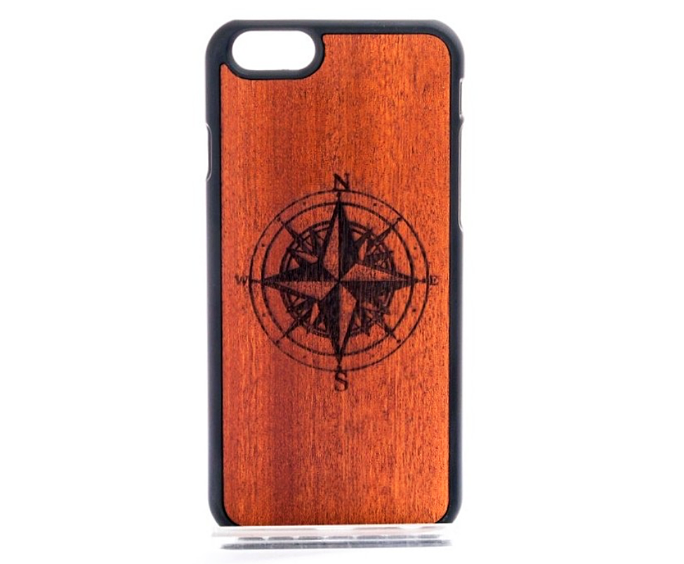 Wood Compass Mobile Phone case