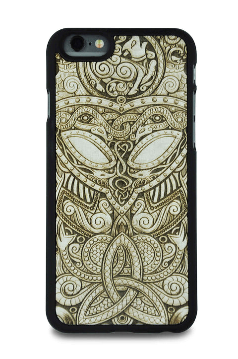 White Wood Viking Mask Phone Case