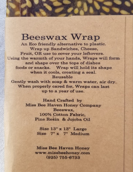 Eco Friendly Beeswax Wraps