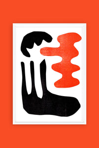 Black and Orange Risograph Print #1