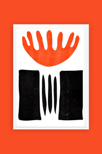 Black and Orange Risograph Print #2