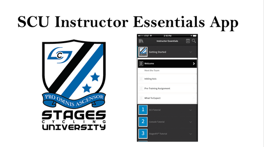 Stages Cycling University Instructor Essentials App
