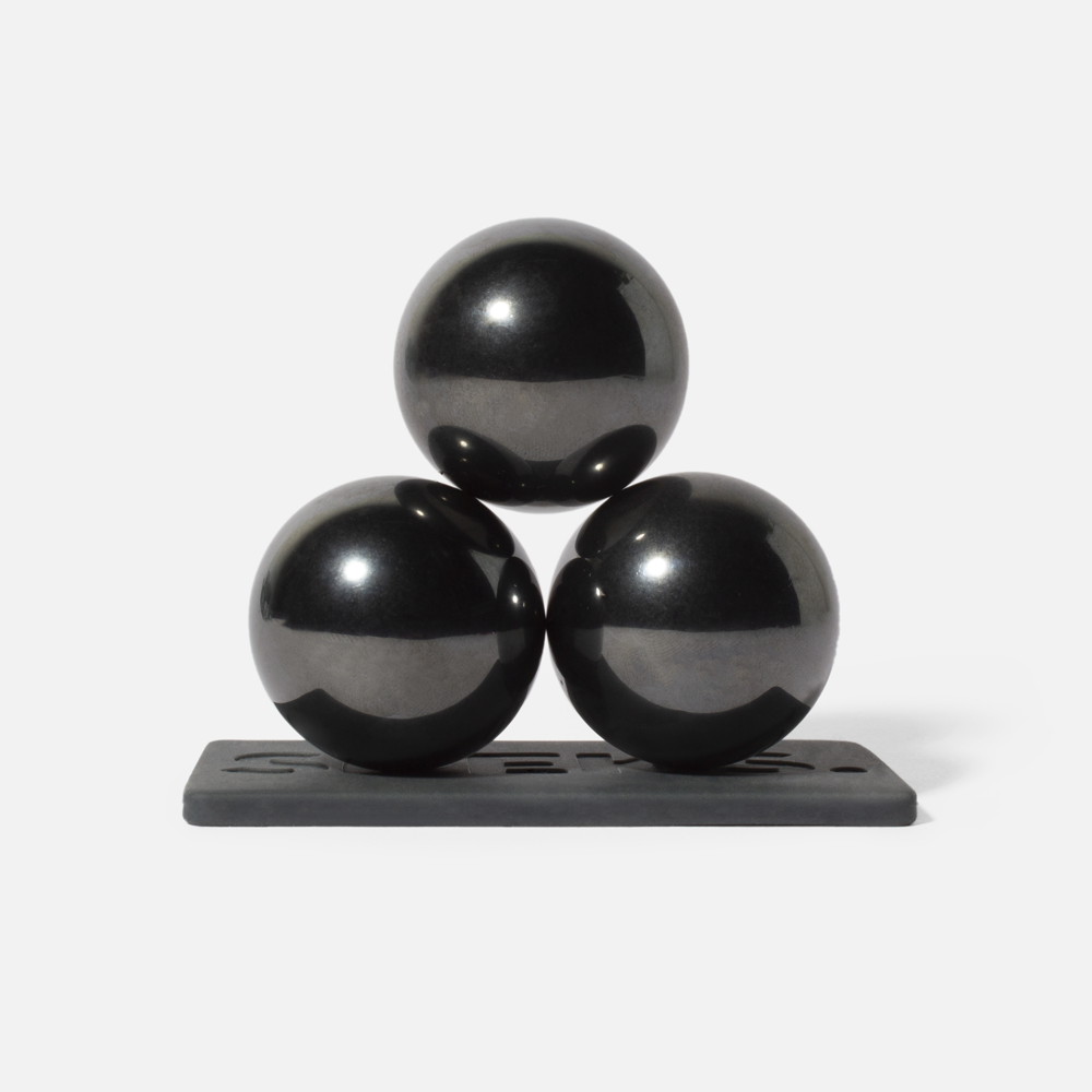 supers 33mm Magnet Balls gunmetal / 3-set