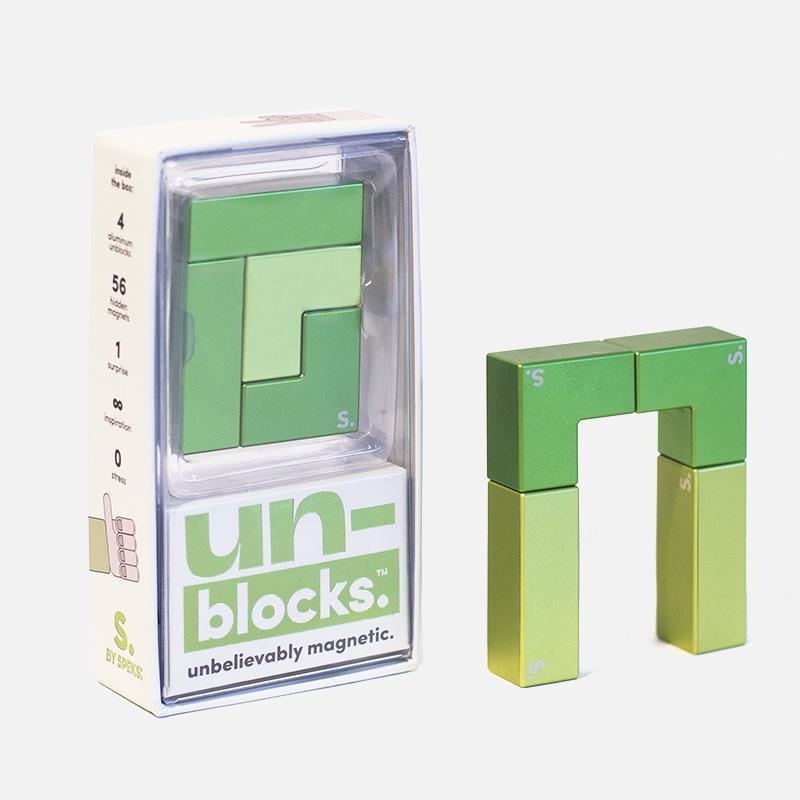 Unblocks - Aluminum Magnetic Blocks Green
