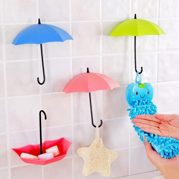 3Pcs Colorful Umbrella Wall Hook - myfunkysole