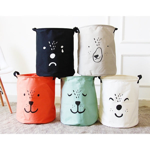 cartoon folding laundry basket - myfunkysole