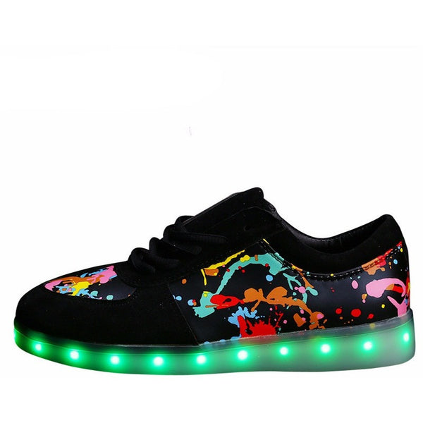 Colorful glowing shoes - myfunkysole