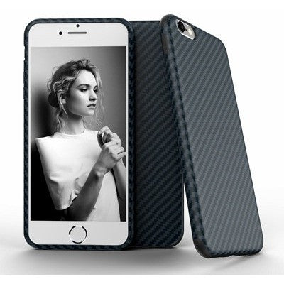 Black White Carbon Fiber Soft Case - myfunkysole