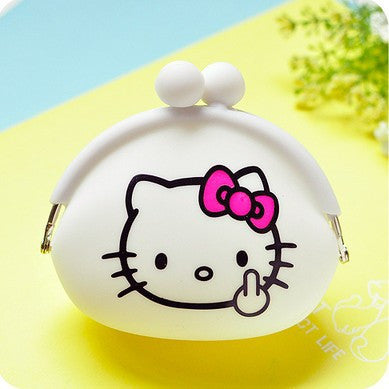 Women Cheapest Soft Silicone Cute Cartoon Small Hasp Coin Purse Silica Gel Little Pouch Kawaii Money Bag,Girl's Mini Coin Wallet - myfunkysole