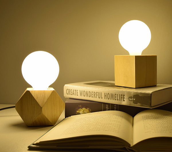 Wooden base book lights - myfunkysole