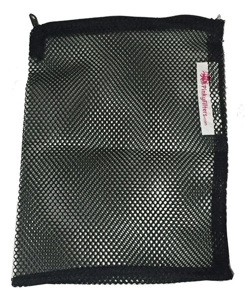 Pinky Mesh Zipper Filter Bag (5 Pack)