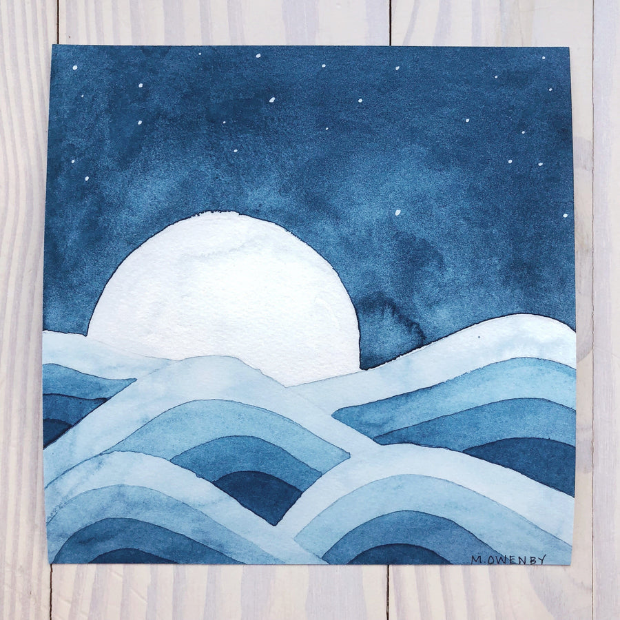 Deep Waters-Watercolor Print - Michelle Owenby Design
