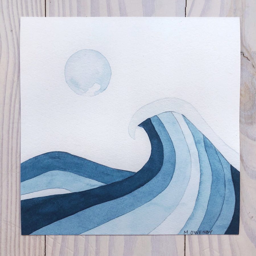 Rising Tide-Watercolor Print - Michelle Owenby Design