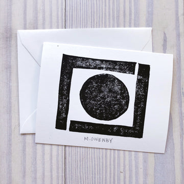 Self-Control - Black Note Cards - Michelle Owenby Design