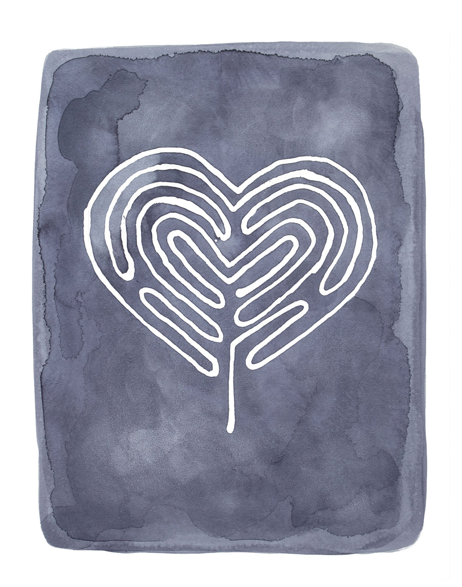 Heart Labyrinth, Limited Edition Print - Michelle Owenby Design