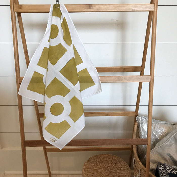 Hand-Painted Scarf - Brass Keyhole