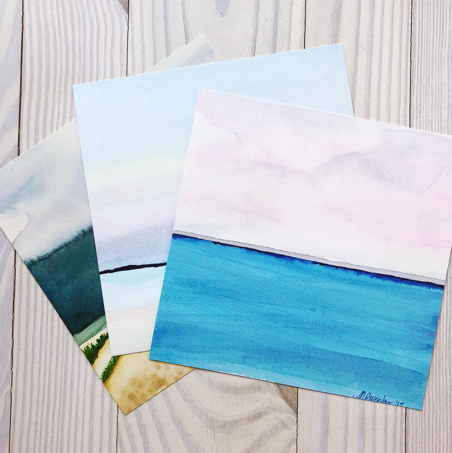 Rothko Skies-Watercolor Print - Michelle Owenby Design