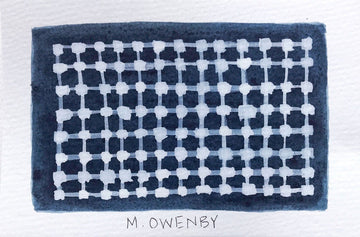 Lunar Grid-Watercolor Print - Michelle Owenby Design