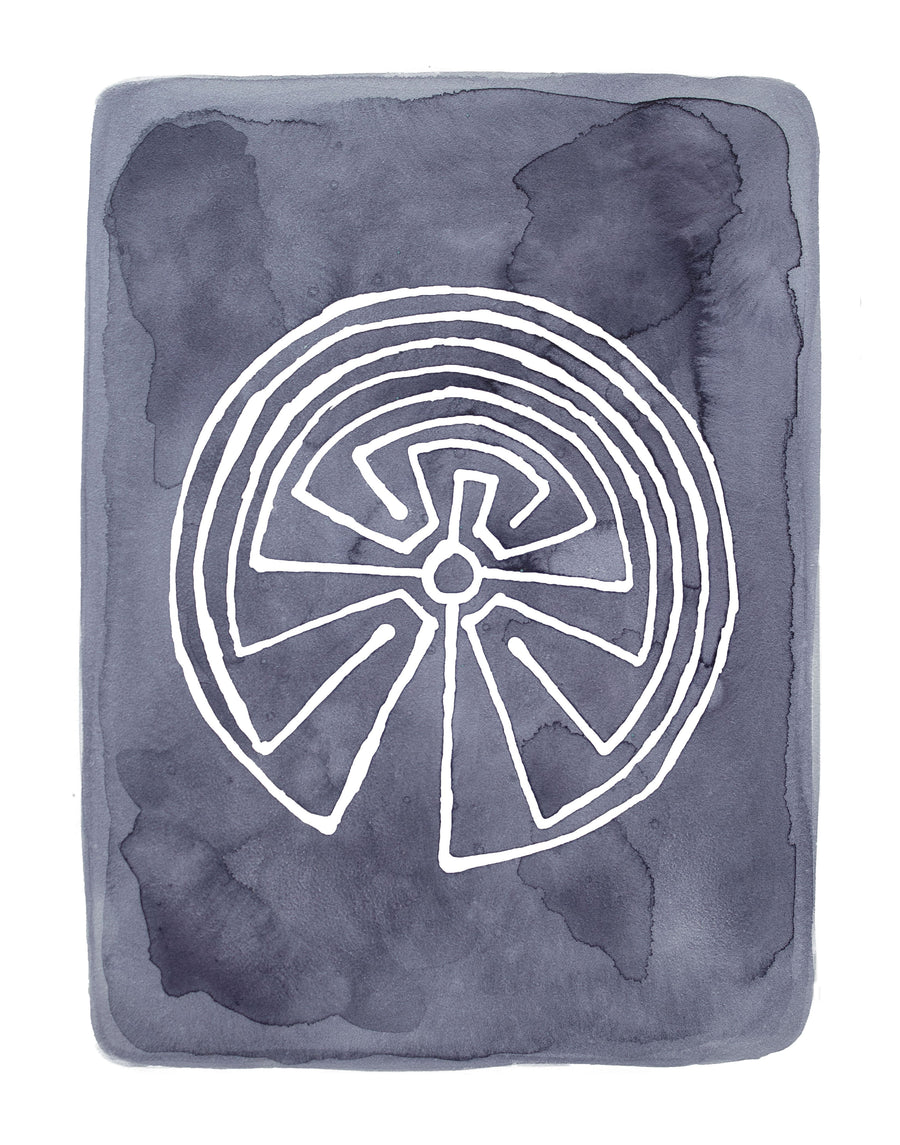 Mayan Labyrinth, Limited Edition Print - Michelle Owenby Design