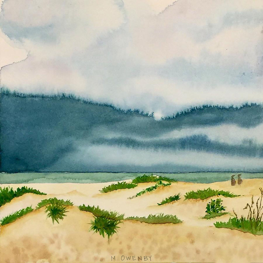 Moody Skies-Watercolor Print - Michelle Owenby Design