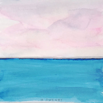 Pink Horizon-Watercolor Print - Michelle Owenby Design