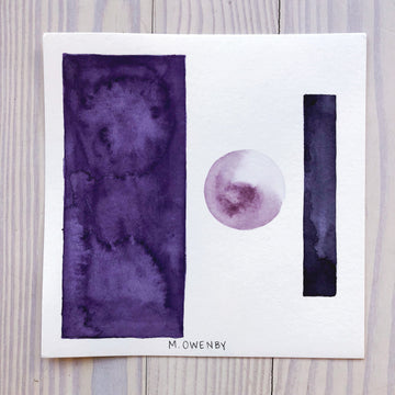 Winter Moon 3 -Watercolor Print - Michelle Owenby Design
