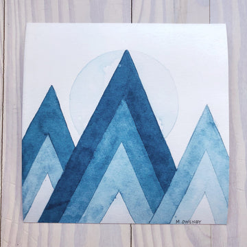 Pisgah Peaks-Watercolor Print - Michelle Owenby Design