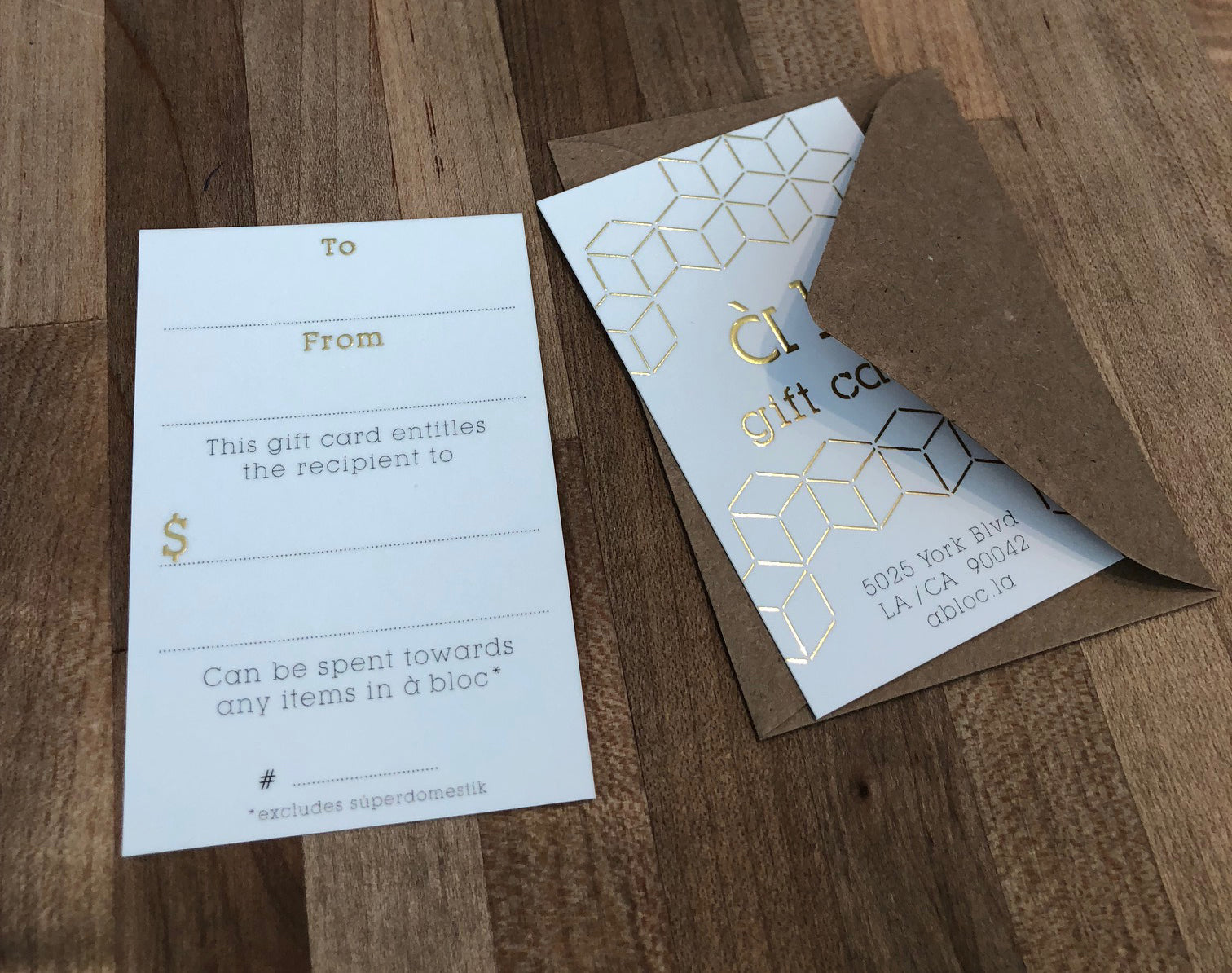 à bloc Gift Cards - Treat a loved one or treat yourself.