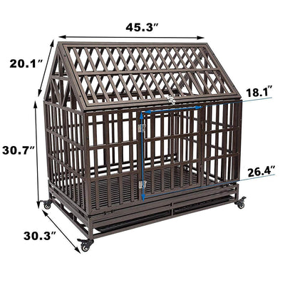 Crate, KennHaus Heavy Duty Metal Dog Kennel - DenHaus