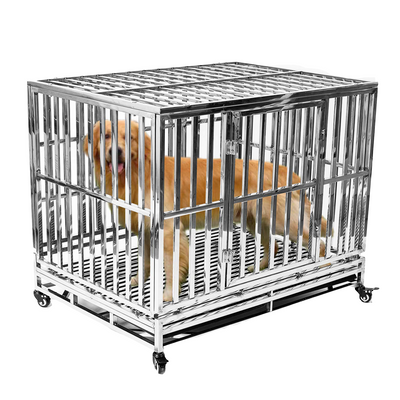 Crate, KennHaus SS Heavy Duty Stainless Steel Dog Kennel - DenHaus