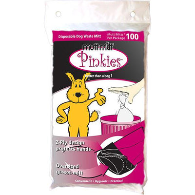 Waste Bags, Pinkies Mutt Mitt® 2-Ply (Pack of 100) - DenHaus