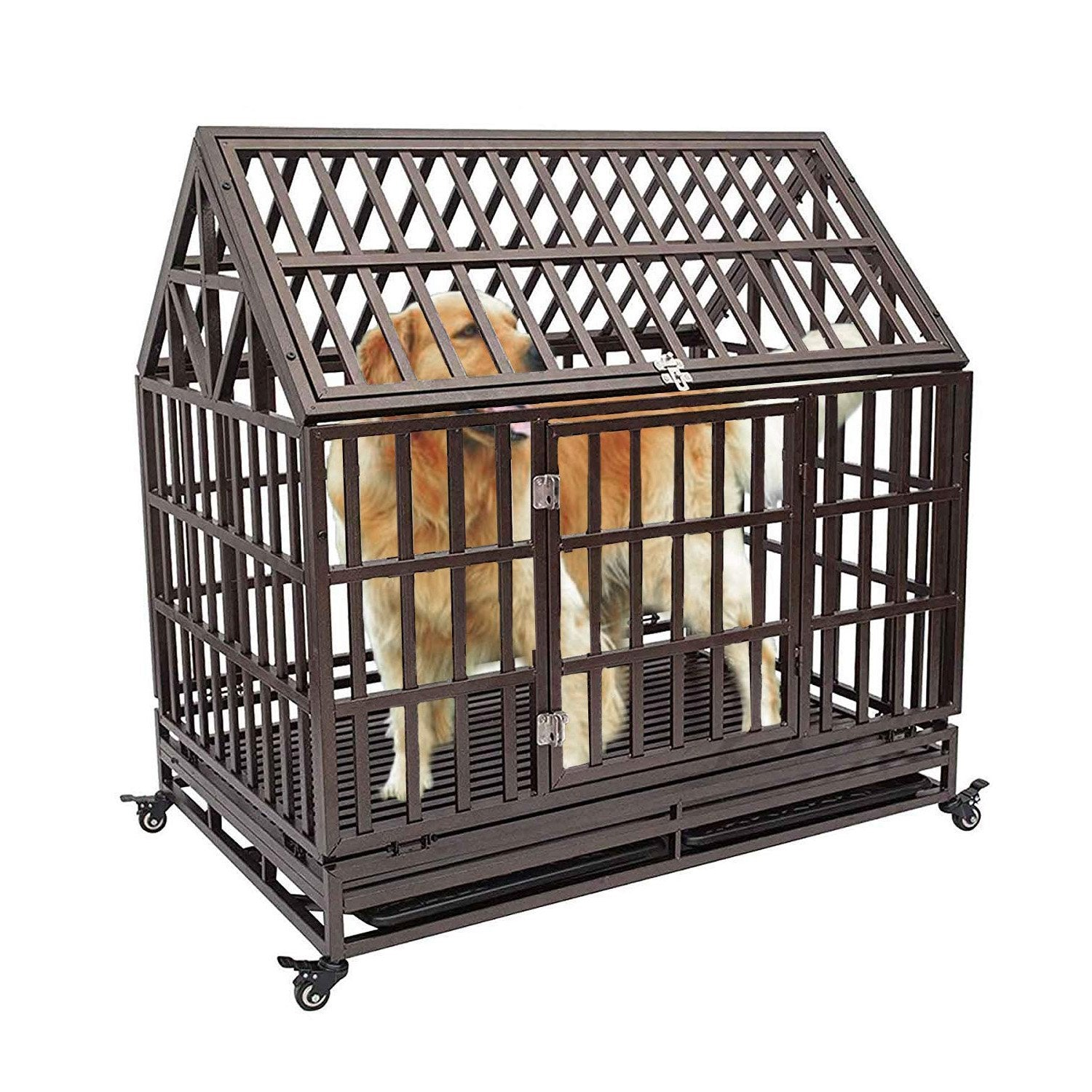 KennHaus Heavy Duty Metal Dog Kennel