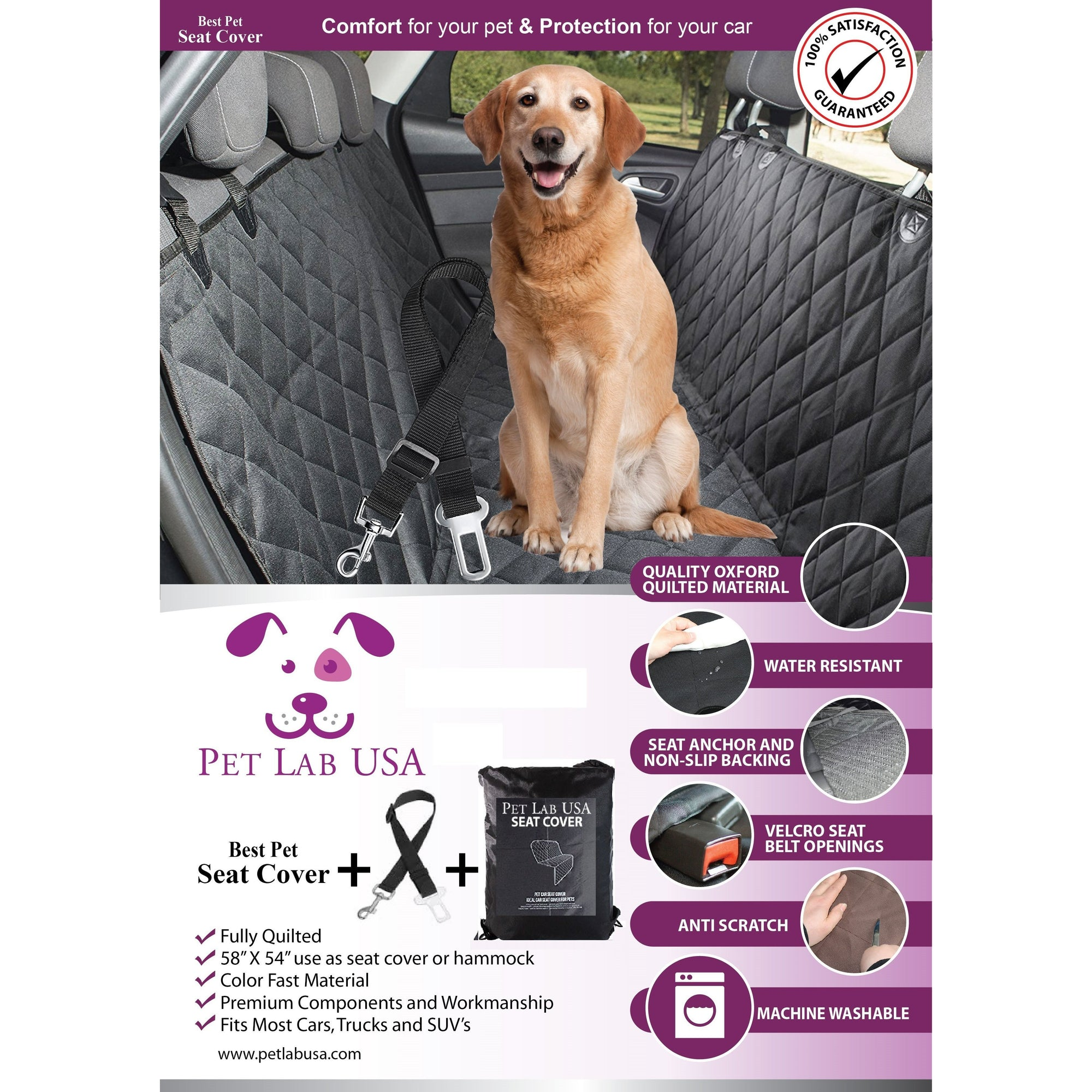 Pet Car Seat Cover, Pet Car Seat Cover - DenHaus