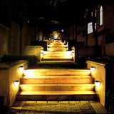 Litom Solar Lights Garden Lights Outdoor Fence Lights Semi-circle Waterproof for Walkways Stairways (2 PACK)