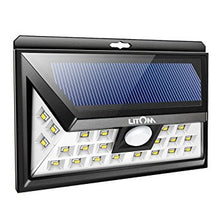Litom Both Sided 24 LED Wide Angle Outdoor Solar Light with 3 Sensing Modes