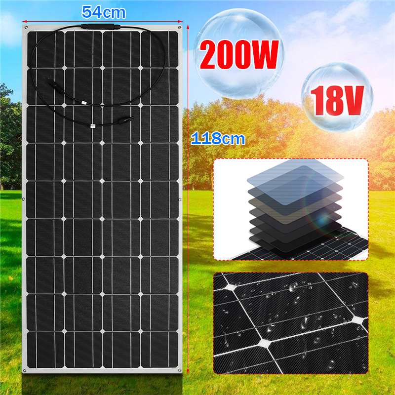 200W Flexible Monocrystaline Solar Panel 18V