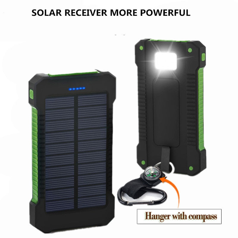 2019 Solar Power Bank 30000mAh Two USB Solar chargers