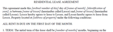 Residential Lease Agreement - Legal Documents and Forms (PDF Download)