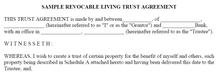 Sample Revocable Living Trust (PDF Download)