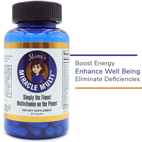 Image of Mimi's Miracle Multi. Multivitamin - Eliminate Deficiencies, Boost Energy & Enhance Well Being