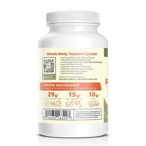 PerfectAmino Amino Acid Tablets by BodyHealth (300 Ct Bottle)