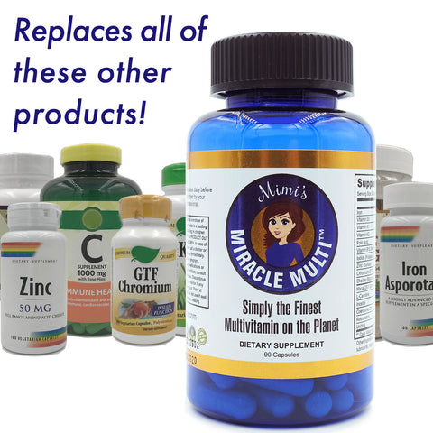 Image of Mimi's Miracle Multivitamin - Eliminate Deficiencies, Boost Energy & Enhance Well Being