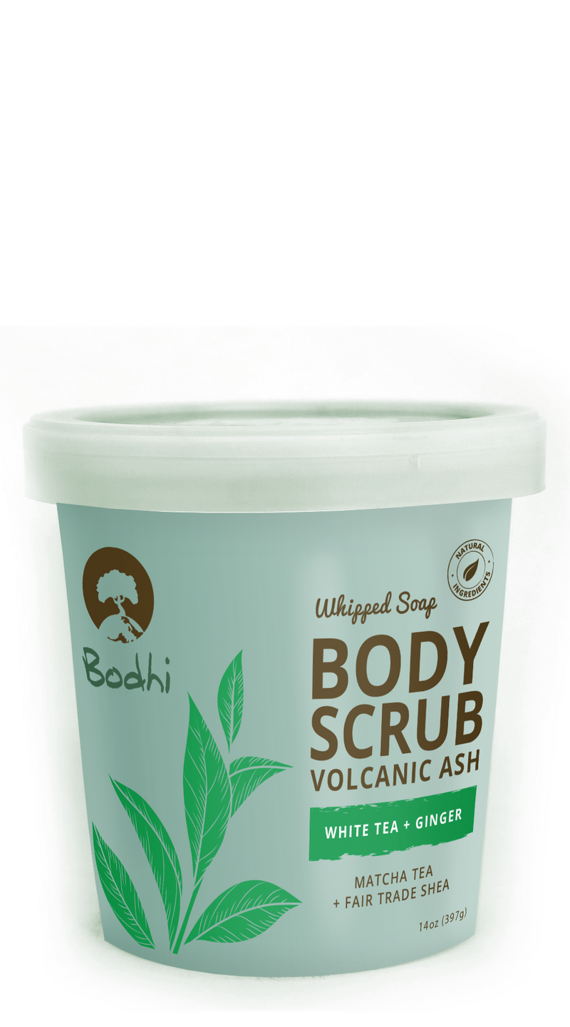 Bodhi White Tea & Ginger Whipped Body Scrub - 14 oz
